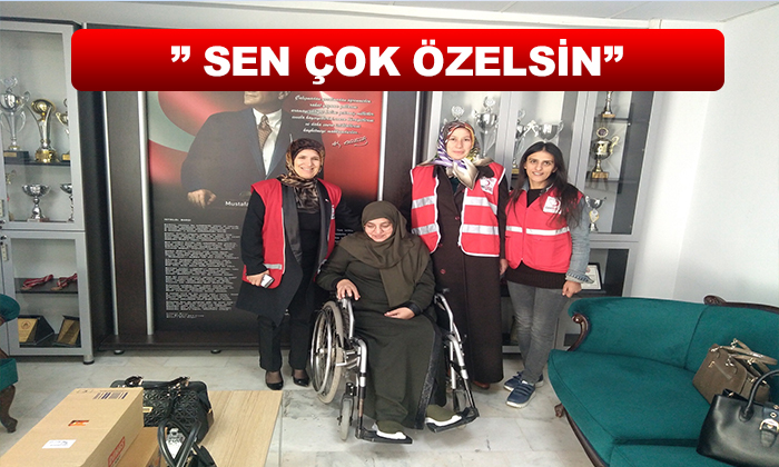 """"""" SEN ÇOK ÖZELSİN"""" ENGELLİLER HAFTASINDA HAYAT BULDU"""