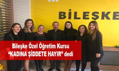 """Bileşke Özel Öğretim Kursu """"Kadına Şiddete Hayır"""" Tepkisi"""