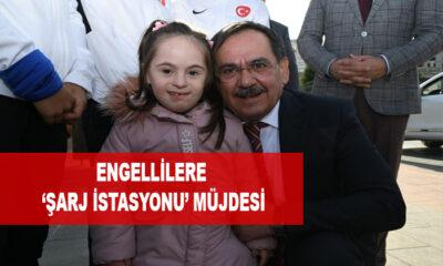 BÜYÜKŞEHİR'den ENGELLİLERE 'ŞARJ İSTASYONU' MÜJDESİ