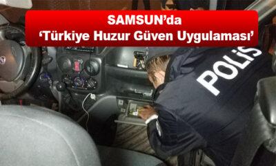 Samsun'da 'Türkiye Huzur Güven Uygulaması' 34 Gözaltı