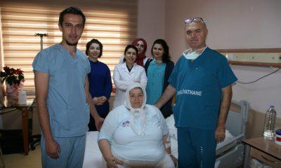 Omü'de 156 Kiloluk Kadına Hayati Müdahale