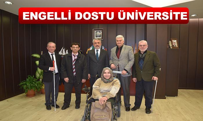 Samsun Engelliler Meclisi Erişim Komisyonu Taleplerini Rektör Bilgiç'e İletti