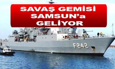 TCG FATİH (F-242) Askeri Gemi Samsun'a Geliyor