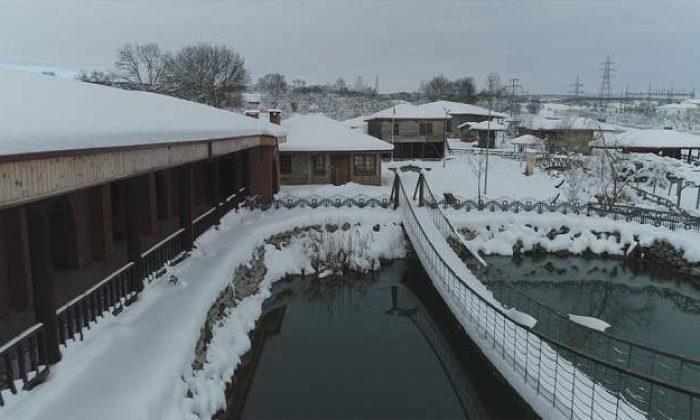 Samsun'da Kar Manzarası Büyülüyor