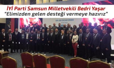 İYİ Parti Samsun Milletvekili Bedri Yaşar, Açıklamalarda Bulundu
