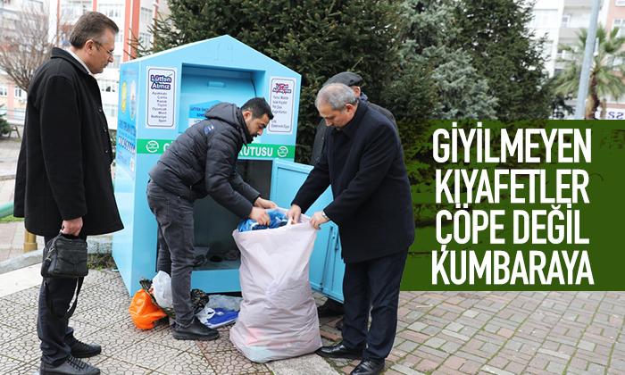 Samsun'da Giyilmeyen Kıyafetler Geri Kazandırılıyor