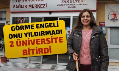 Görme Engelli Kadının Büyük Başarısı; 2 Üniversite Bitirdi