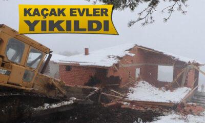 Samsun'da Kaçak 26 Yapı Yıkıldı