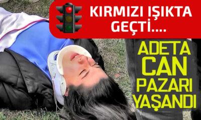 Samsun'da Trafik Işığında Geçti! Sonuç Facia
