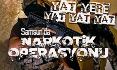 Samsun Bafra'da Narkotik Operasyonu