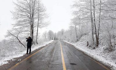 Ordu'nun yüksek kesimlerinde kar yağışı