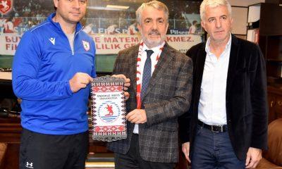 Rektör Bilgiç'ten Samsunspor'a destek