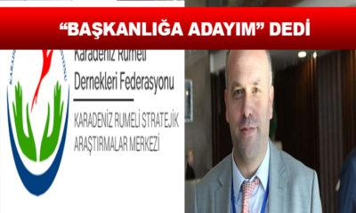 Karadeniz Balkan ve Rumeli Dernekler federasyon Başkanlığına Salih MERİÇ adaylığını açıkladı.