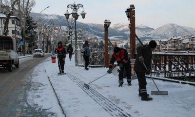 Amasya'da kar küreme çalışmaları