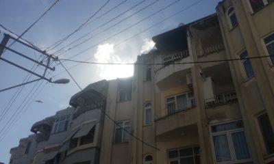 Apartman dairesinde yangın