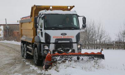 Atakum'da kar mücadelesi