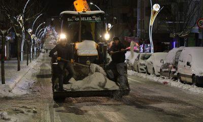 Bafra Belediyesi kar teyakkuzunda