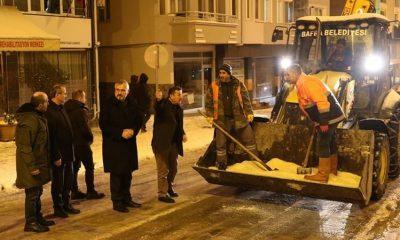 """Başkan Kılıç: """"Kar yağışının günlük hayatı olumsuz yönde etkilemesinin önüne geçtik"""""""