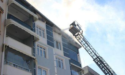 Çarşamba'da yangın