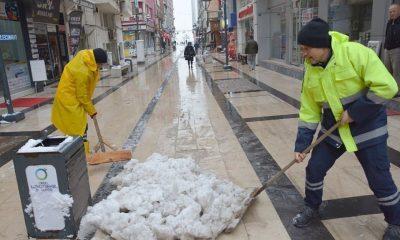 Fatsa'da karla mücadele
