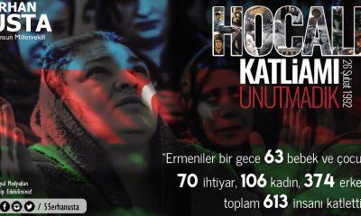 Erhan USTA Hocalı Katliamını Kınadığını Belirtti