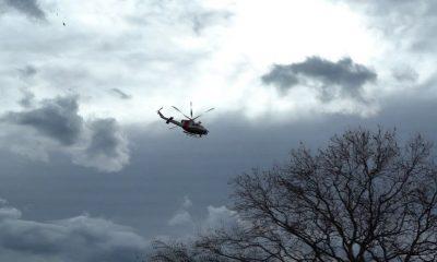 Kızını kurtarmak için ırmağa atlayan baba, helikopter destekli aranıyor