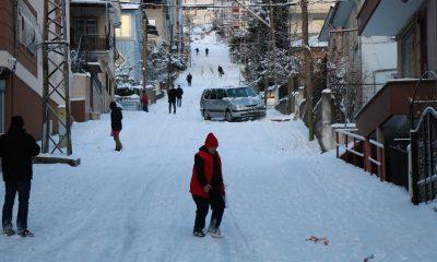 Samsun'un kar ve buzla sınavı