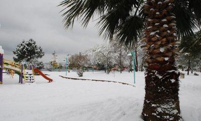 Sinop kent merkezine mevsimin ilk karı yağdı