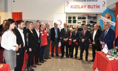 36. Kızılay Öğrenci Butik Mağazası OMÜ'de açıldı