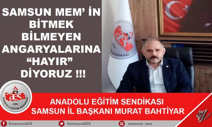 """Anadolu Eğitim Sendikası """" Angaryaya Hayır"""" Dedi"""