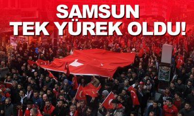 Samsun'da Binlerce Kişi Şehitler İçin Yürüdü