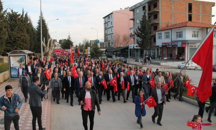 """Amasya'da """"Şehitlere Saygı, Kahraman Ordumuza Destek Yürüyüşü"""""""