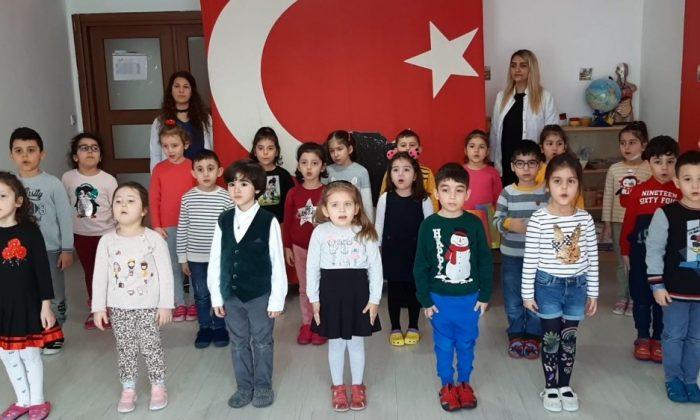 Anaokulu öğrencilerinden Mehmetçiğe oratoryolu destek