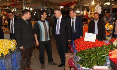 Bafra'da modern pazar yeri çalışmaları sürüyor