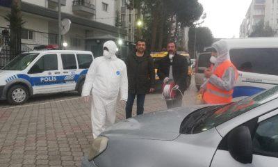 Emniyet binası ve araçlar dezenfekte edildi