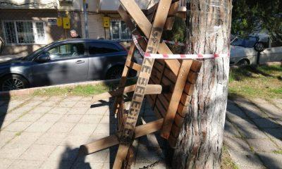 Gerze'de banklar oturmaya kapatıldı