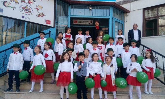 İlkokul öğrencileri 'Yeşilay Haftası'nı kutladı
