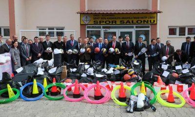 Ordu'da 52 okula spor malzemesi dağıtıldı