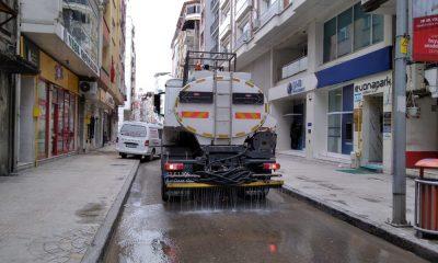 Ordu'da sokak ve caddeler yıkanıyor