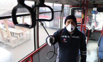 Özel halk otobüslerinde korona virüsü seferberliği