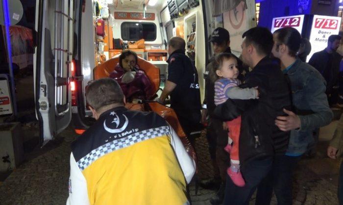 Samsun'da apartmanda çıkan yangında 6 kişi hastanelik oldu