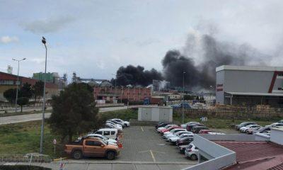 Samsun'da lastik ayakkabı fabrikasında yangın çıktı, 3 kişi hastanelik oldu