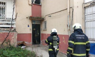 Samsun'da şofbenden yangın çıktı