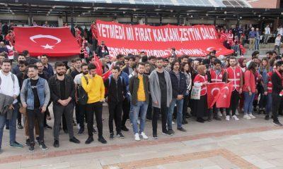 Samsun'da üniversitelilerden 'Bahar Kalkanı Harekatı'na destek
