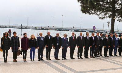 Sinop meclisinden şehitler için saygı duruşu