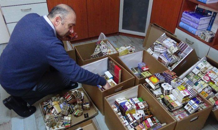 Sinop'ta 45 yıllık kibrit koleksiyonu