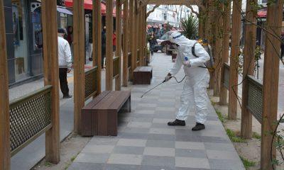 Sinop'ta korona virüsü için dezenfekte çalışmaları