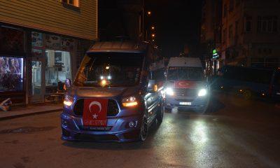 Sinop'ta şehitler için konvoy