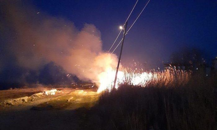 Türkeli'de otluk yangını