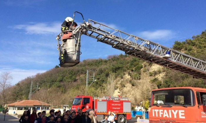 Türkeli'de yangın tatbikatı yapıldı